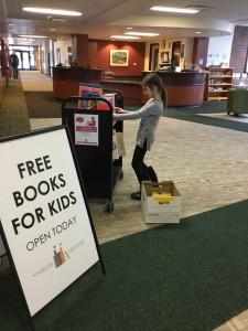 Sophia organizes the books